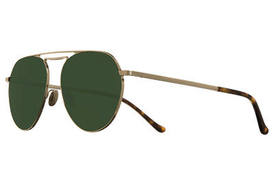 Cutler and Gross - 1309 Sunglasses Gold with Green
