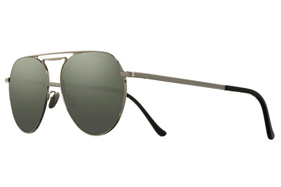 Cutler and Gross - 1309 Sunglasses Silver with Silver Mirror