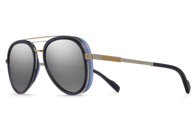 Cutler and Gross - 1323 Sunglasses Palladium Gold and Classic Navy Blue
