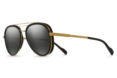 Cutler and Gross - 1323 Sunglasses Gold Metal and Black