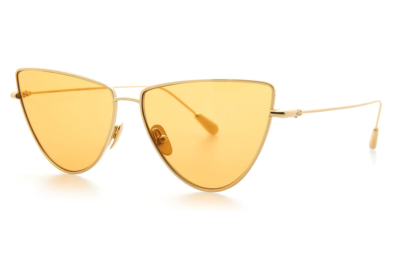 Kaleos Eyehunters - Dolan Sunglasses Gold with Yellow Lenses