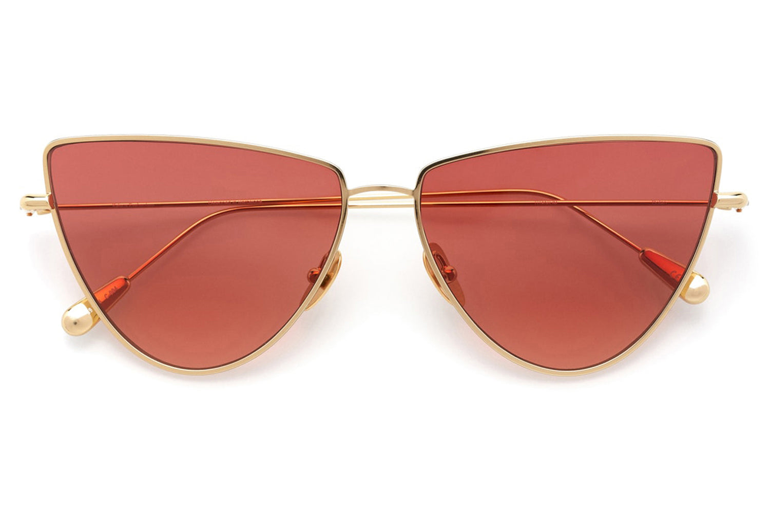Kaleos Eyehunters - Dolan Sunglasses Gold with Red Lenses