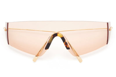 Kaleos Eyehunters - Edwards Sunglasses Gold with Pink Lenses