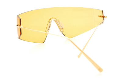 Kaleos Eyehunters - Edwards Sunglasses Gold with Yellow Lenses