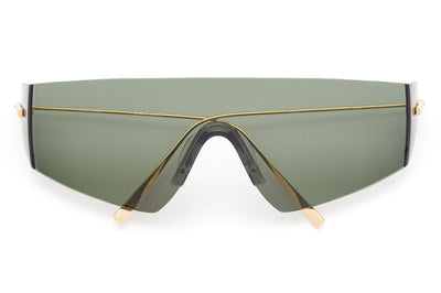 Kaleos Eyehunters - Edwards Sunglasses Gold with Green Lenses