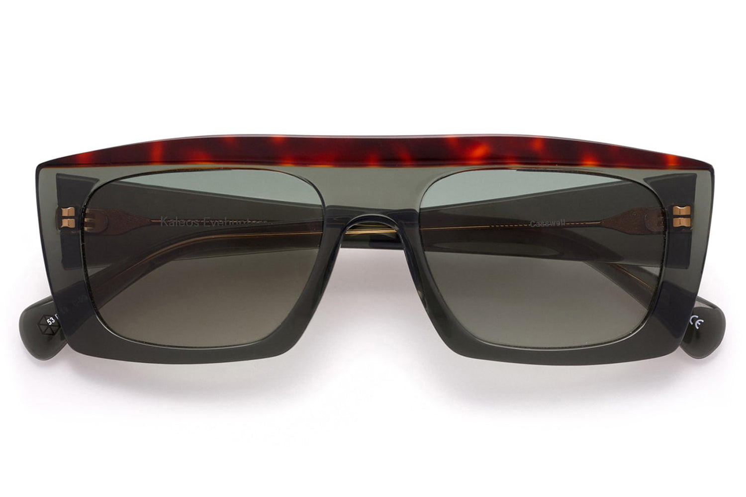 Kaleos Eyehunters - Casswell Sunglasses Transparent Olive