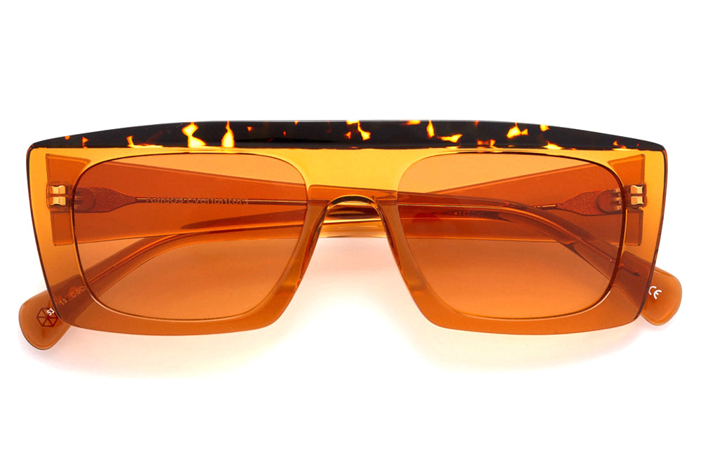 Kaleos Eyehunters - Casswell Sunglasses Transparent Orange