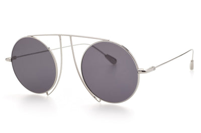 Kaleos Eyehunters - Jefferies Sunglasses Silver with Grey Lenses