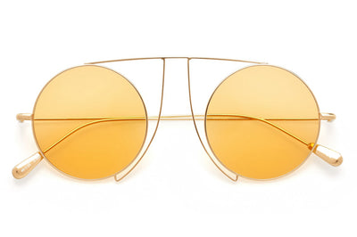 Kaleos Eyehunters - Jefferies Sunglasses Gold with Orange Lenses