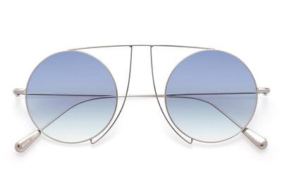 Kaleos Eyehunters - Jefferies Sunglasses Silver with Blue Lenses