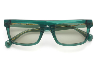 Kaleos Eyehunters - Lachance Sunglasses Transparent Green
