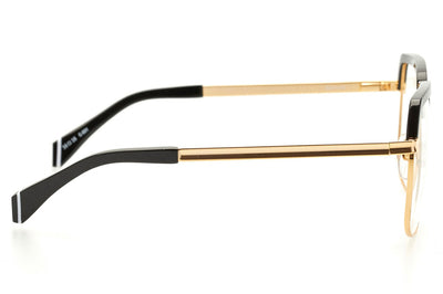 Kaleos Eyehunters - Barrow Eyeglasses Gold/Black
