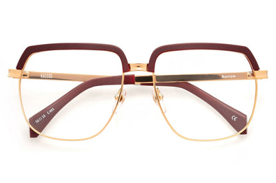 Kaleos Eyehunters - Barrow Eyeglasses Gold/Burgundy