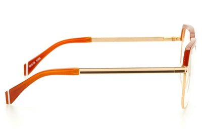 Kaleos Eyehunters - Barrow Eyeglasses Gold/Orange