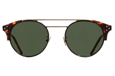 Cutler & Gross - 1271 Sunglasses Black and Dark Turtle with Green Lenses