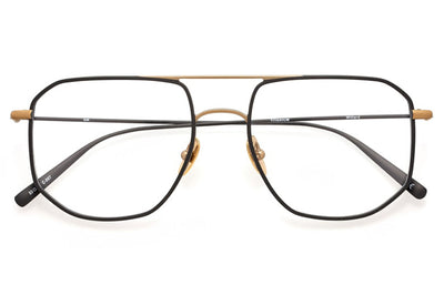 Kaleos Eyehunters - Willard Eyeglasses Black/Matte Gold