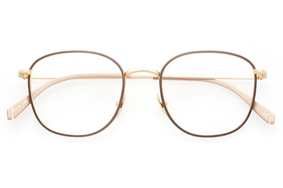 Kaleos Eyehunters - Finch Eyeglasses Gold/Brown