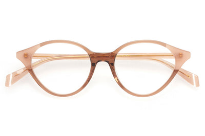 Kaleos Eyehunters - Castleman Eyeglasses Transparent Brown