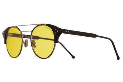 Cutler & Gross - 1271 Sunglasses Black and Gold with Yellow Lenses