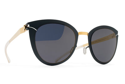 MYKITA Sunglasses - Priscilla Gold/Indigo with Brilliant Blue Solid Lenses