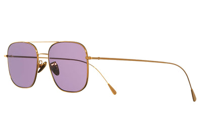 Cutler & Gross - 1267 Sunglasses Gold Plated with Pale Purple Lenses