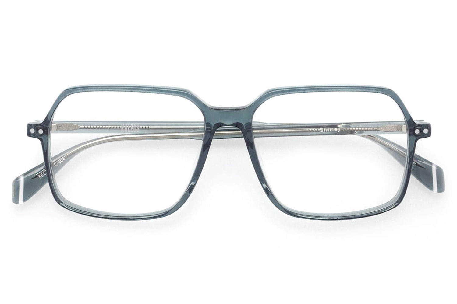 Kaleos Eyehunters - Shirley Eyeglasses Transparent Grey
