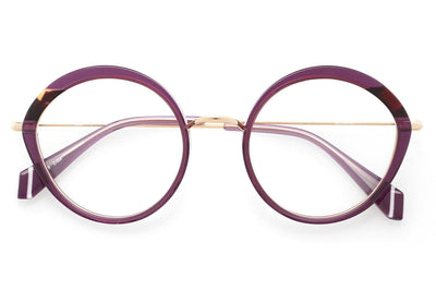 Kaleos Eyehunters - Mortemart Eyeglasses Transparent Purple