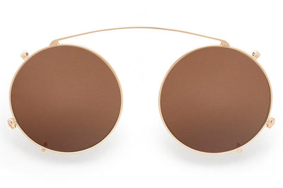 Kaleos Eyehunters - Fogg Clip Gold with Brown Lenses