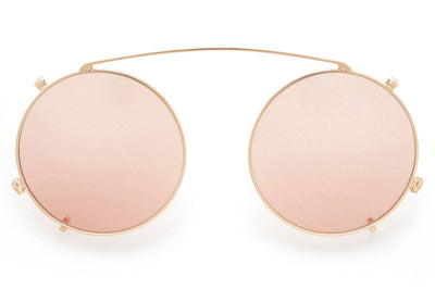 Kaleos Eyehunters - Fogg Clip Gold with Light Pink Lenses