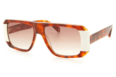 Kaleos Eyehunters - Schofield Sunglasses Honey Tortoise/White
