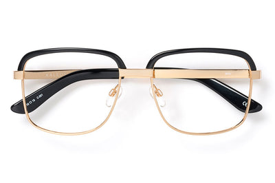 Kaleos Eyehunters - Milk Eyeglasses Black/Gold