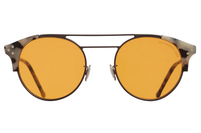 Cutler & Gross - 1271 Sunglasses Gun and Grey Tortoise with Orange Lenses