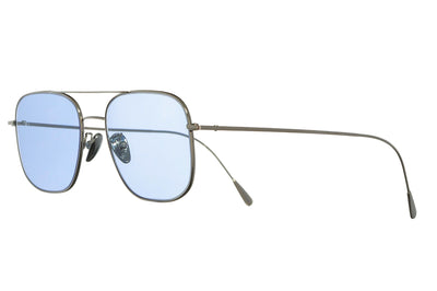 Cutler & Gross - 1267 Sunglasses Palladium Plated with Pale Blue Lenses