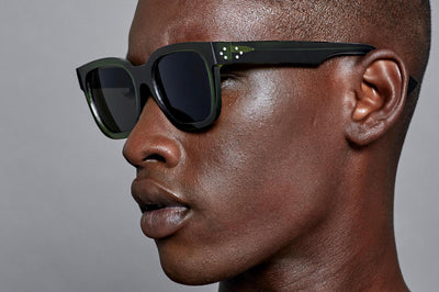 Just Human - Bold Square 01 Sunglasses Forest Green Men