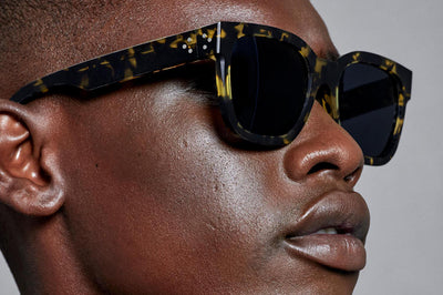Just Human - Bold Square 01 Sunglasses Yellow Tortoise Men