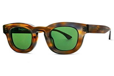 Thierry Lasry - Darksidy Sunglasses Brown Tortoise w/ Green Lenses (128)