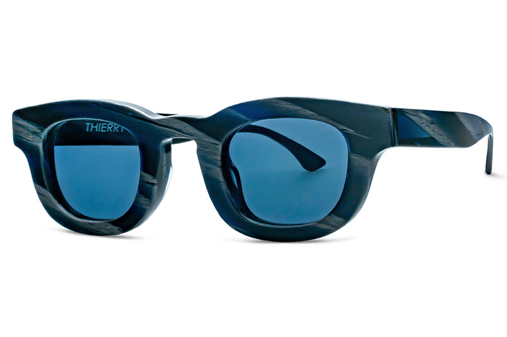 Thierry Lasry - Darksidy Sunglasses Blue Horn w/ Navy Blue Lenses (838)