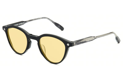 Lunetterie Générale - Dolce Vita Sunglasses Black & Smoke/Palladium with Solid Yellow Lenses (Col.I)