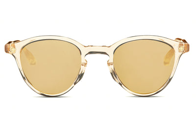Lunetterie Générale - Dolce Vita Sunglasses Smoke Crystal/18k Gold with Solid Bronze Mirror Lenses (Col.V)