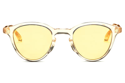 Smoke Crystal/18k Gold with Solid Yellow Lenses (Col.V)
