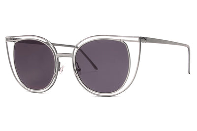 Thierry Lasry - Eventually Sunglasses Silver w/ Solid Grey Lenses (500)