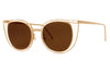Thierry Lasry - Eventually Sunglasses Gold w/ Brown Solid Lenses (900)