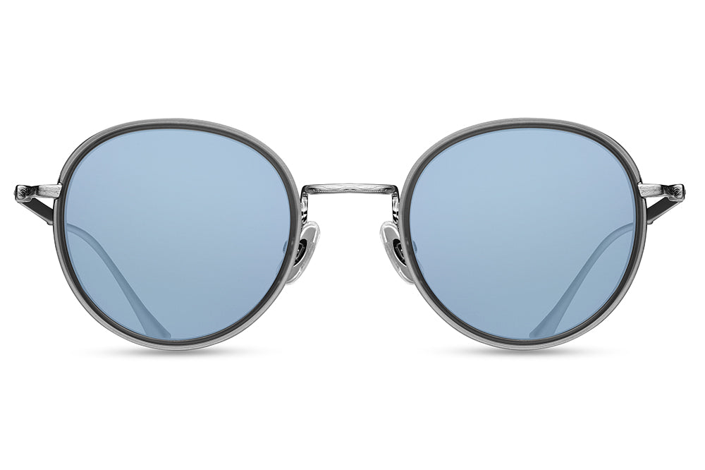 Matsuda - M3063 Sunglasses Brushed Silver-Matte Grey Crystal