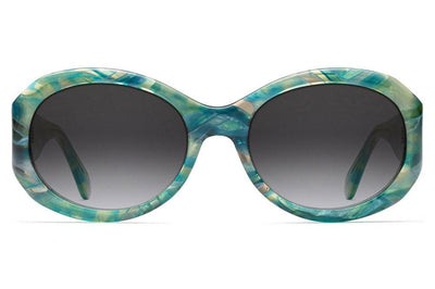 Morgenthal Frederics - 187 Sunglasses Teal Iridescent