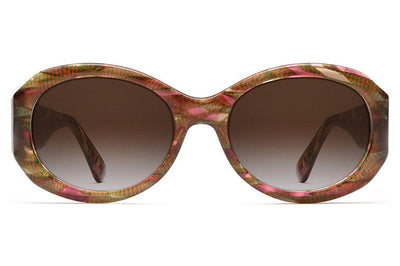 Morgenthal Frederics - 187 Sunglasses Rosey Brown Iridescent