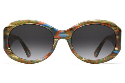 Morgenthal Frederics - 187 Sunglasses Amber Blue Iridescent