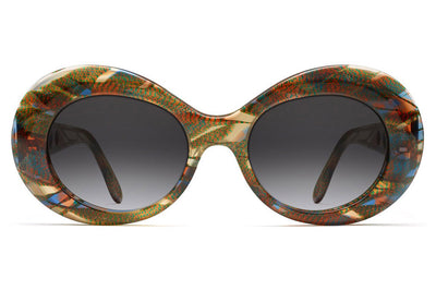 Morgenthal Frederics - Gert Sunglasses Amber Blue Iridescent