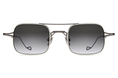 Morgenthal Frederics - Stern Sunglasses Shiny Silver/Grey Tortoise