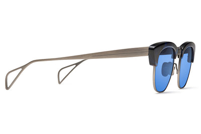 Morgenthal Frederics - Getz Sun Sunglasses Silver/Blue Tortoise