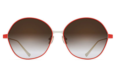 Monse x Morgenthal Frederics - Debi Sunglasses Red/Ivory